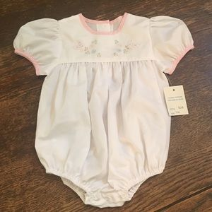 Butterfly smocked bubble